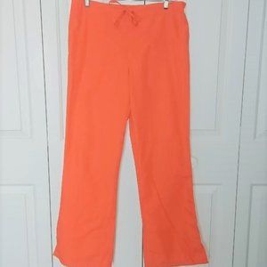 Cherokee Orange Scrub Pants
